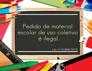 Resultado de imagem para escolas não podem exigir compra de materiais coletivos